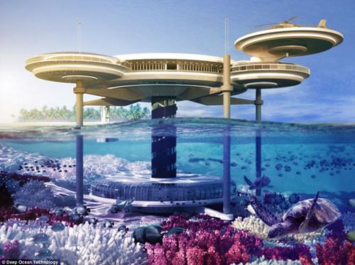 将建水下飞碟酒店 到迪拜可与鱼群共眠